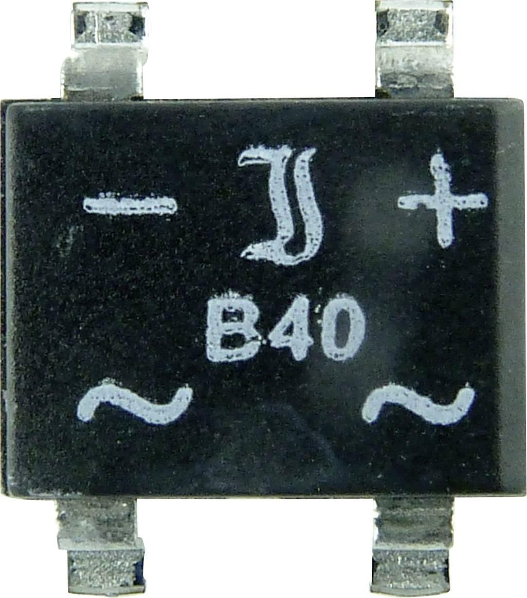 SMD jednosmerný mostíkový usmerňovač, 1 A Diotec, DF 04 S, Menovitý prúd 1 A, U(RRM) 600 V