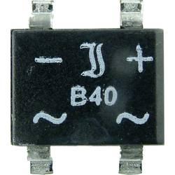 SMD můstkový usměrňovač Diotec B40S, U(RRM) 80 V, U(FM) 40 V, 1 A