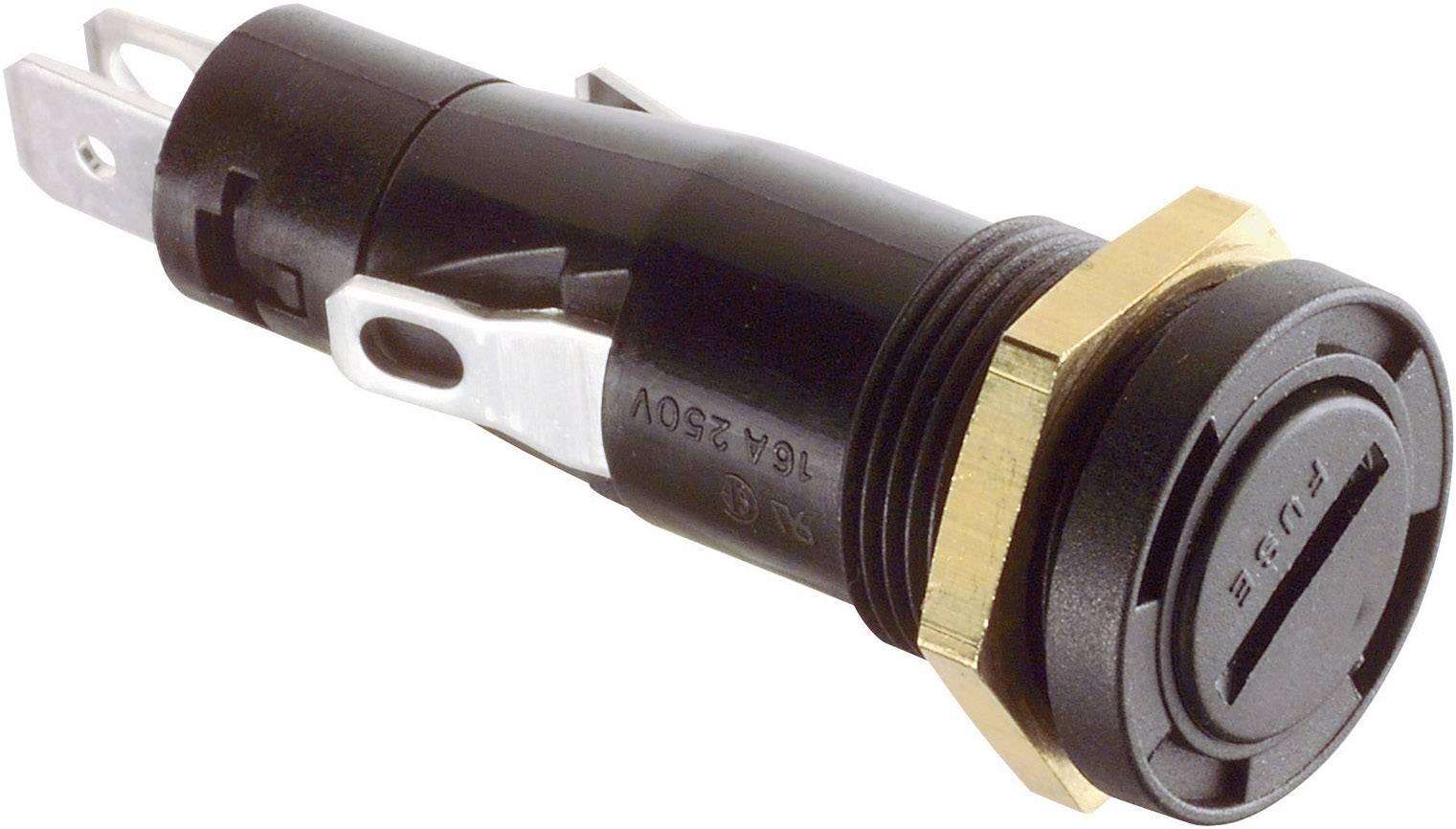 Držiak poistky Arcolectric T0347RAAAA T0347RAAAA, Vhodné pre poistky 6,3 x 32 mm, 16 A, 250 V/AC, 1 ks