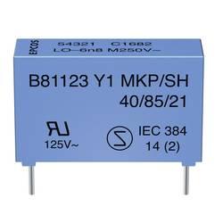 Odrušovací kondenzátor Y1 Epcos B81123C1222M, 2,2 nF, Y1 250 V/AC, 18 x 7 x 12,5 mm