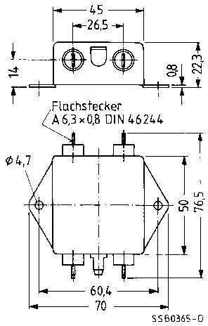 Odrušovací filter Epcos B84111AA30 B84111AA30, samohasiace, 250 V/AC, 3 A, 1.5 mH, (d x š x v) 70 x 76.5 x 22.3 mm, 1 ks