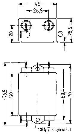 Odrušovací filter Epcos B84111AB60 B84111AB60, samohasiace, 250 V/AC, 6 A, 1.8 mH, (d x š x v) 45 x 76.5 x 28.6 mm, 1 ks