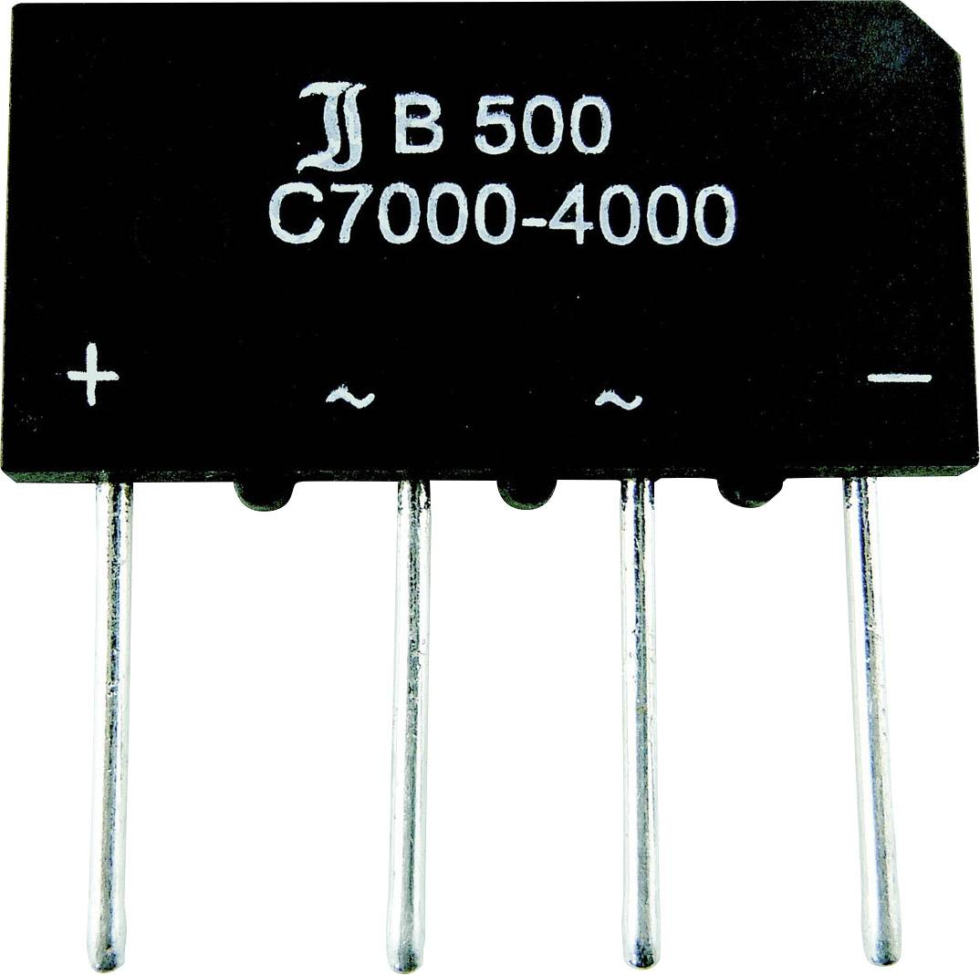 Kremíkový mostíkový usmerňovač 1,4 A/1,6 A B250C1500=BY179
