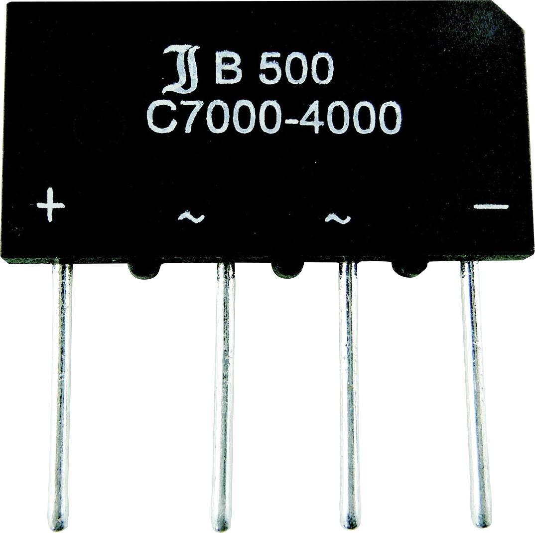 Usměr. můstek Diotec B40C3700-2200, U(RRM) 90 V, (samostatný) 2,2 A/(montáž na šasi) 3,7 A