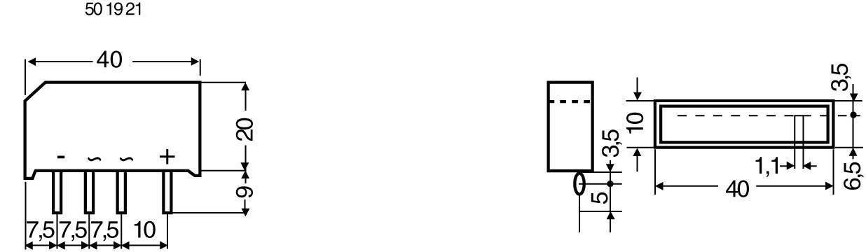 Kremíkový mostíkový usmerňovač B250C5000 3,3A