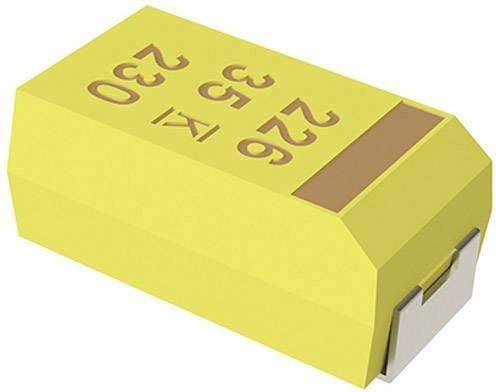 Tantalový kondenzátor Kemet plast T491B226K006ZT, 22 µF, 6,3 V, 10 %, 3,5 x 2,8 x 1,9 mm