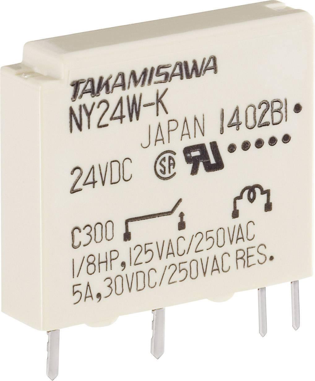 Úzké miniaturní relé série NY Takamisawa NY-24W-K-IE, 5 A 125 V/DC/270 V/AC 750 VA/90 W