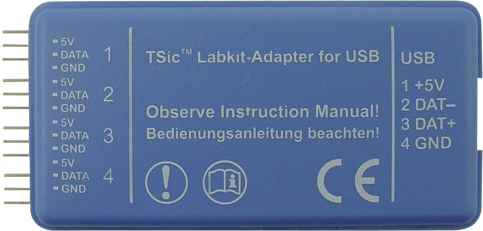 Měřicí systém pro 4 senzory TSIC-LABKIT-RS232