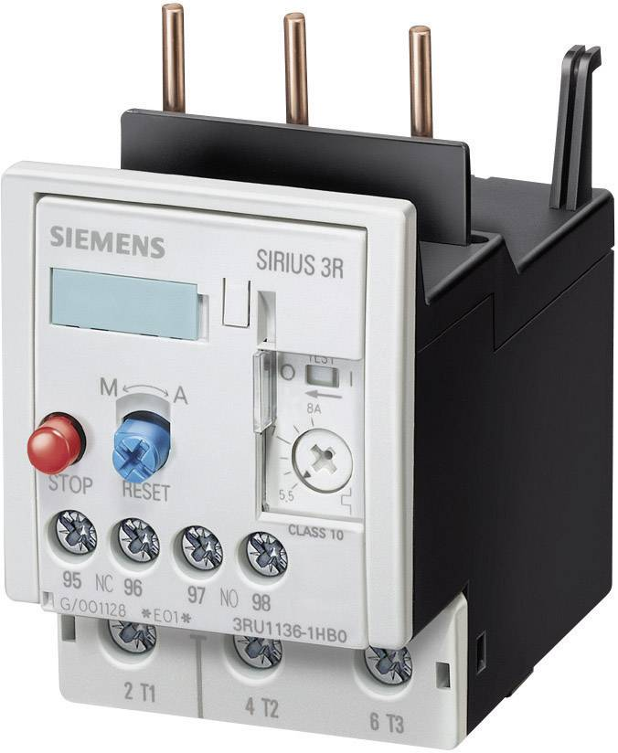 Přepěťové relé Siemens 3RU1116-1HB0, 5,5 - 8 A