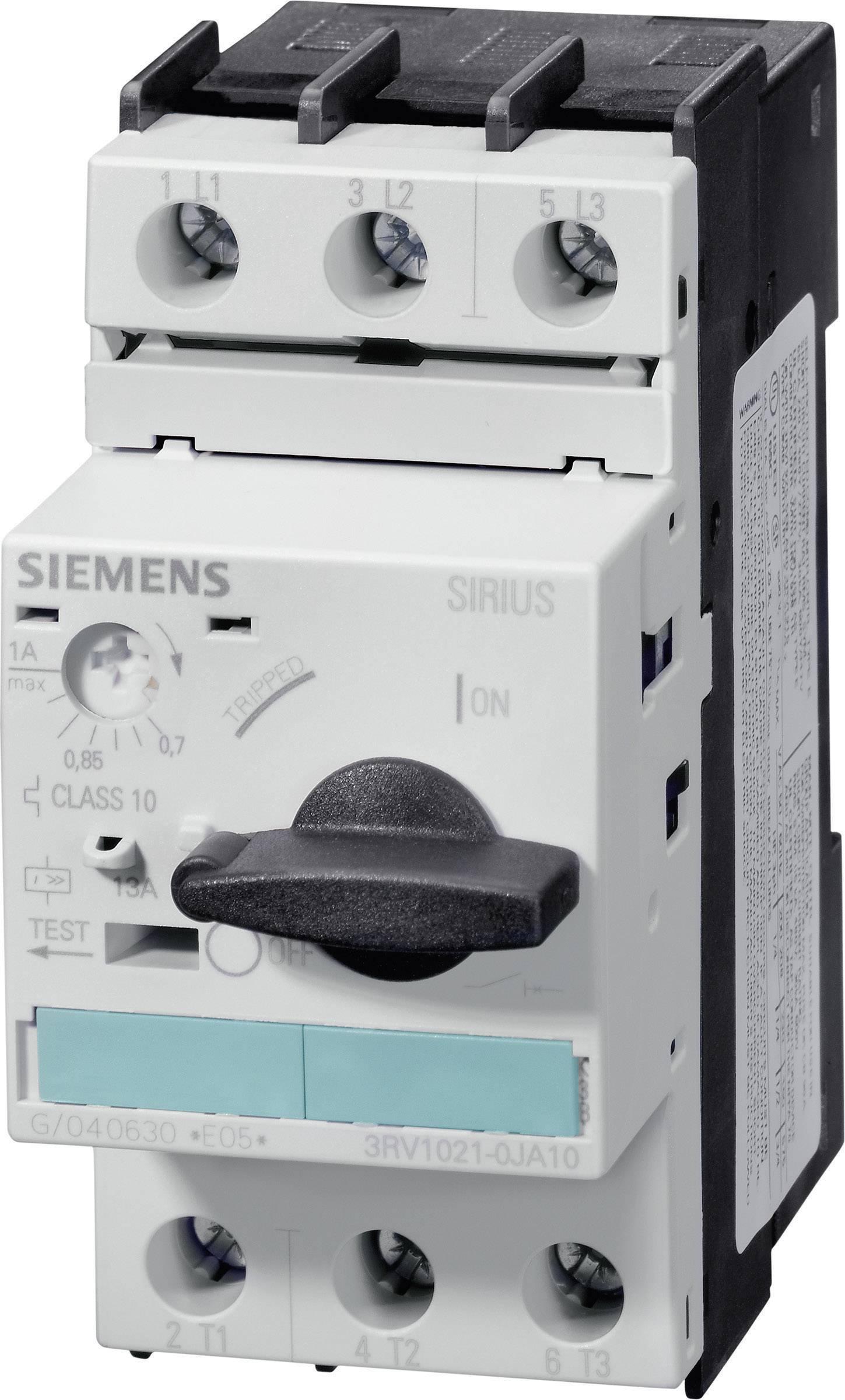 Výkonový spínač Siemens 3RV1021-1HA10, 5,50 - 8,00 A