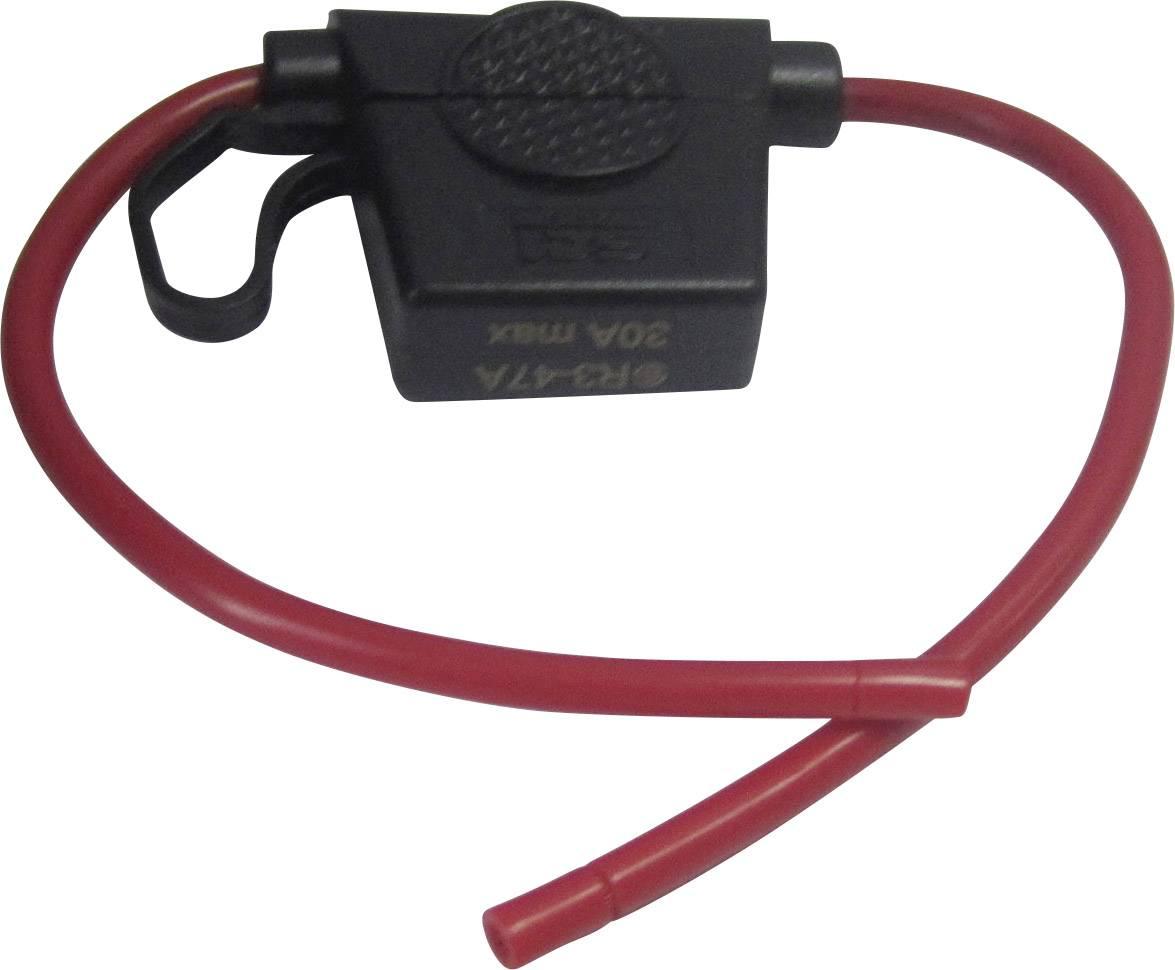 Automobilový poistkový odpínač SCI Wire 12AWG R3-47A (red colour) 502625, Vhodné pre štandardná plochá poistka, 30 A, 32 V/DC, 1 ks