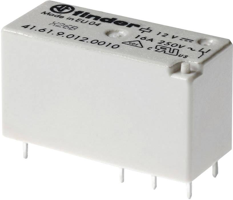 Nízké násuvné relé/relé pro desky plošných spojů, série 41 12 V/DC Finder 41.52.9.012.0000