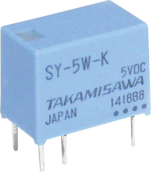 Miniaturní relé série SY Takamisawa SY-24W-K, 175 mW, 1 A , 60 V/DC/120 V/AC 60 VA