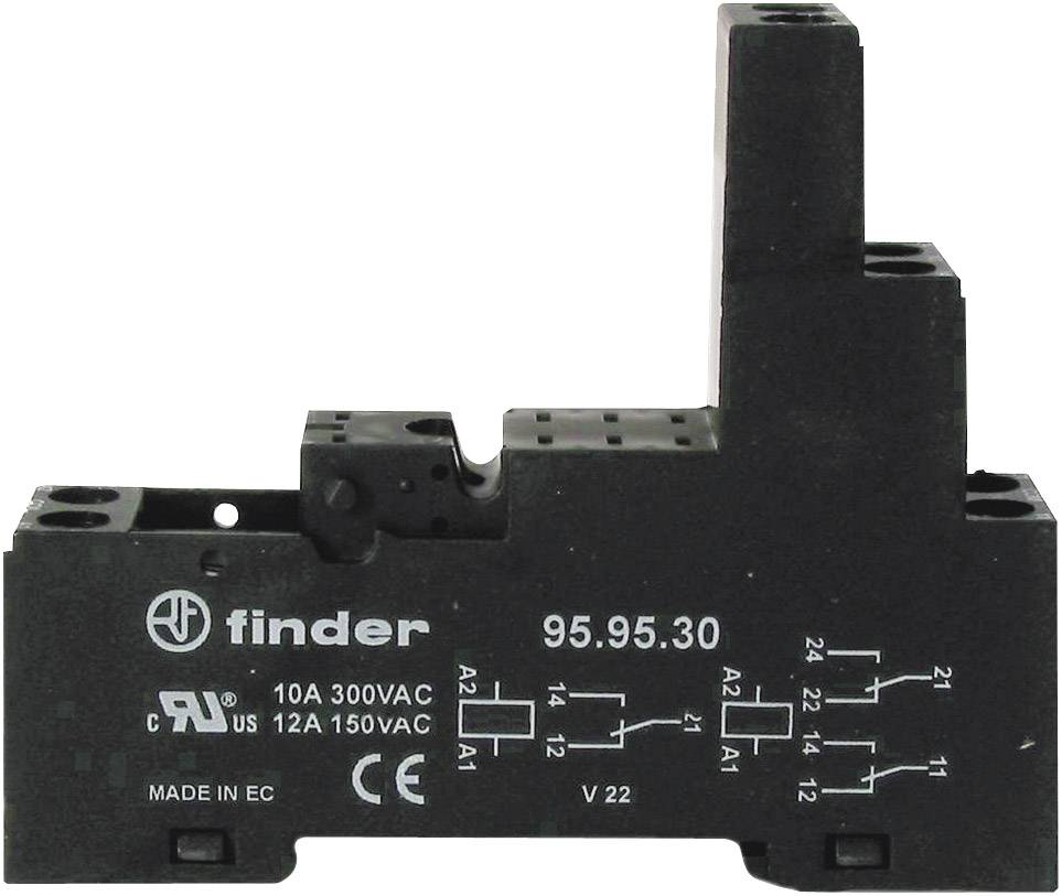 Elektronické časové relé pro lištu DIN. Finder 95.95.30