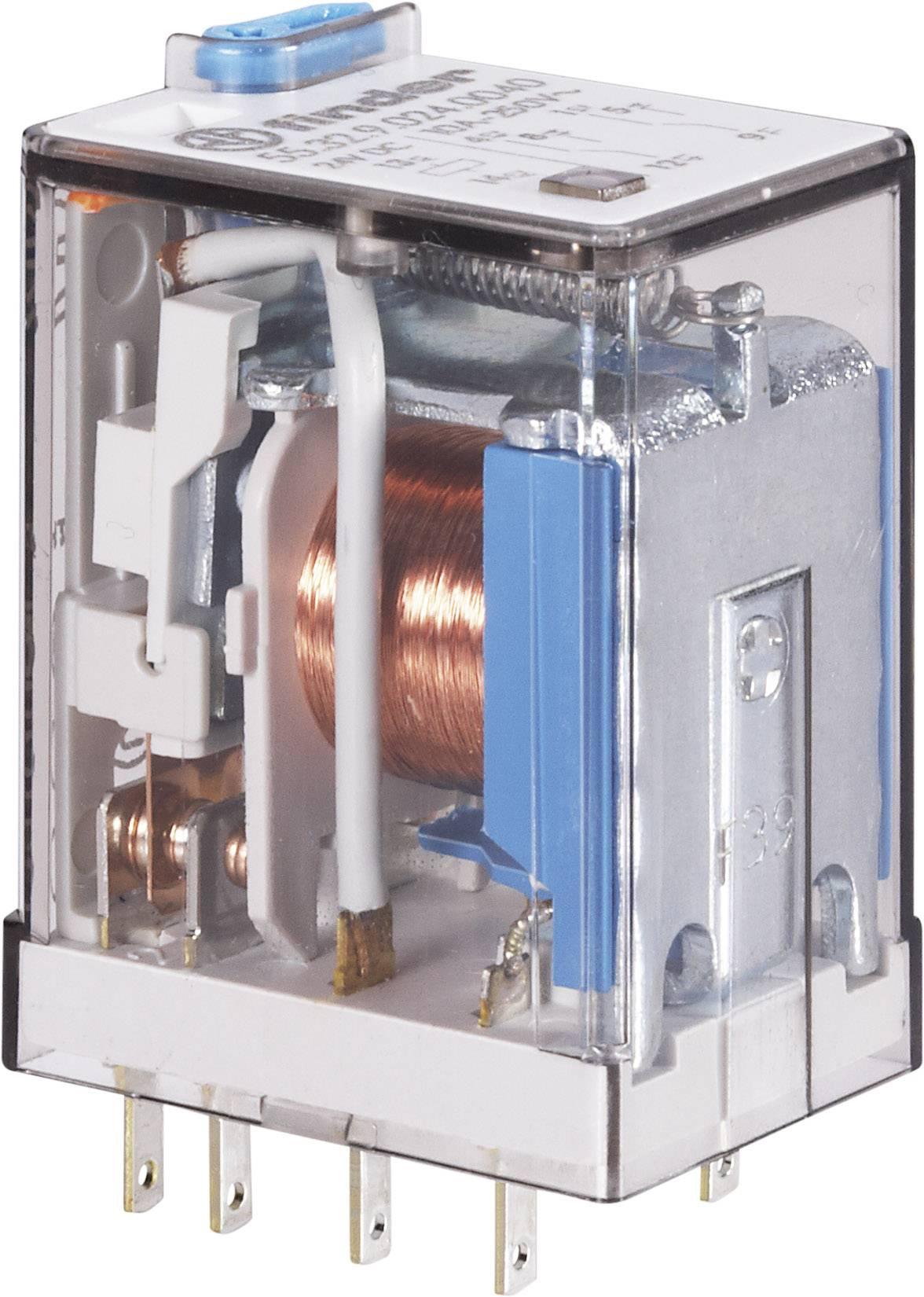 Finder 24 V/DC, 10 A, 2 prepínacie, 1 ks