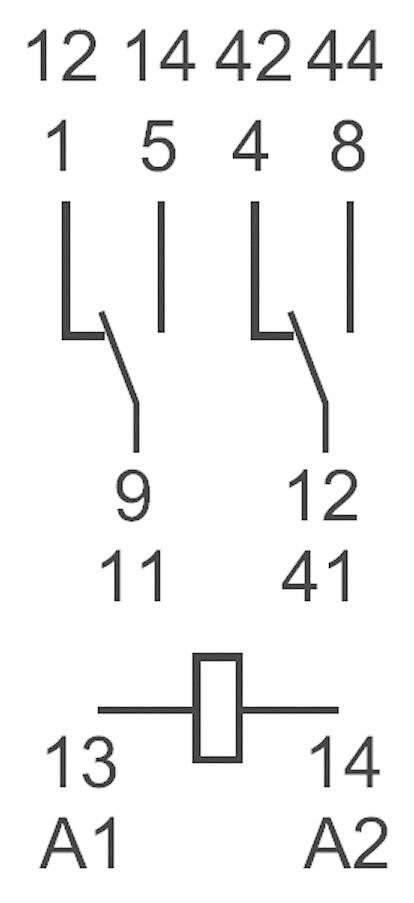 Miniaturní relé série 55,32 s 2 přepínacími kontakty Finder 55.32.8.230.0040, 10 A