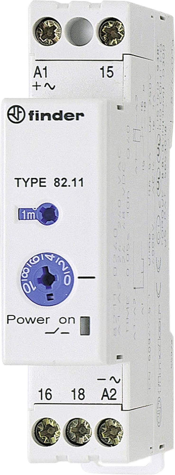 Průmyslové časové relé, 17,5 mm, série 82 Finder 82.11.0.240 1 ks