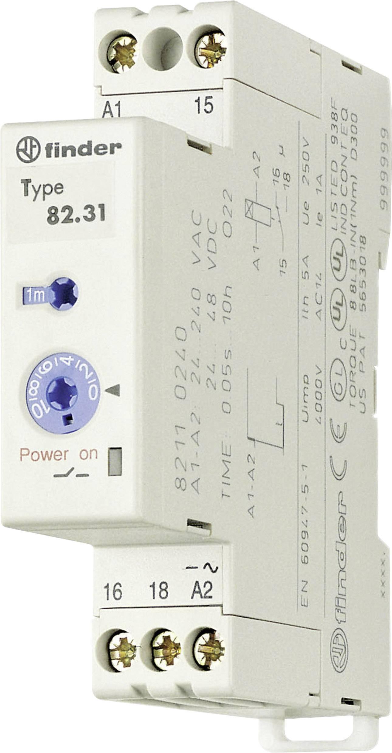 Průmyslové časové relé, 17,5 mm, série 82 Finder 82.31.0.240 1 ks