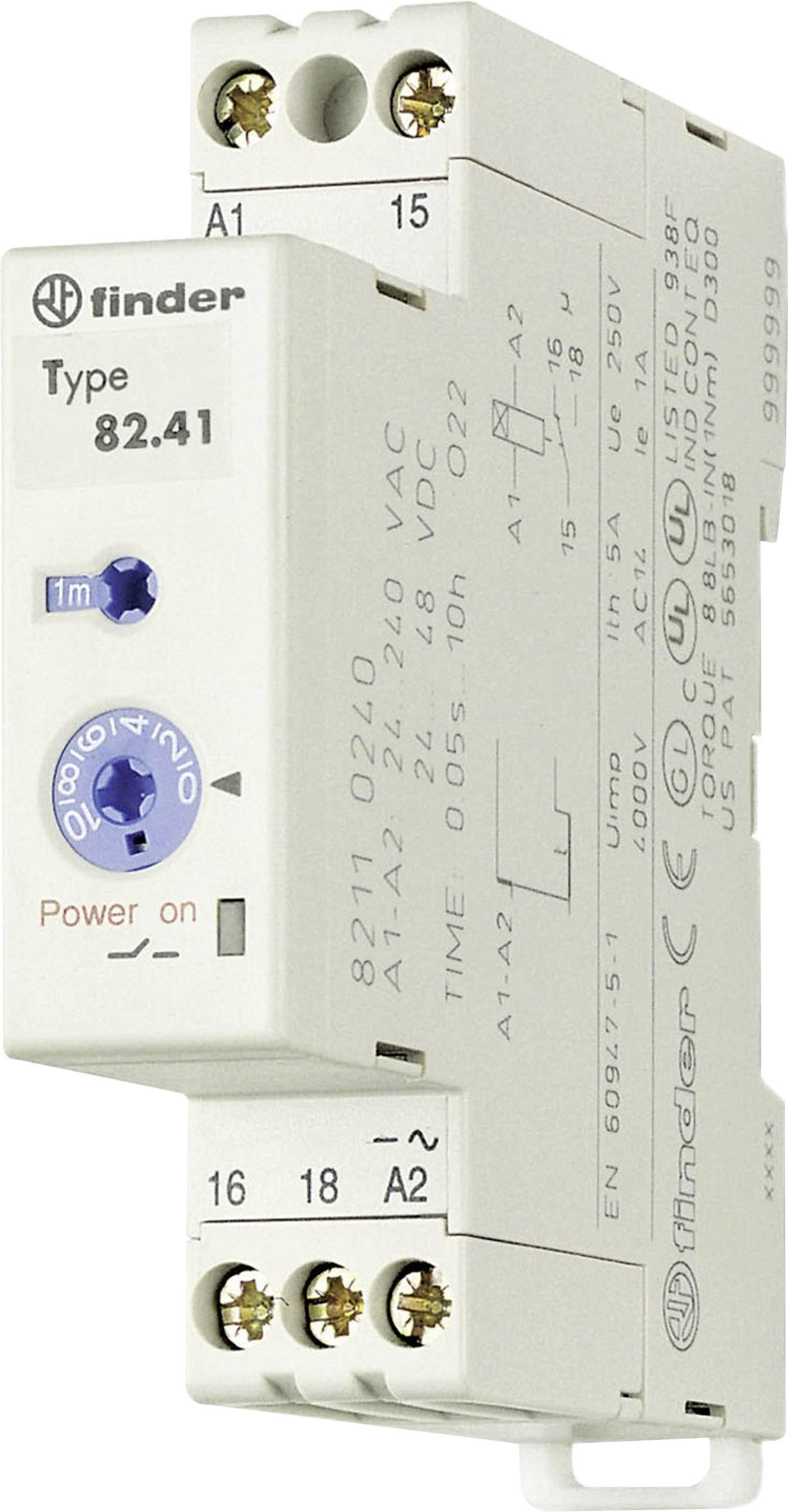 Průmyslové časové relé, 17,5 mm, série 82 Finder 82.41.0.240 1 ks