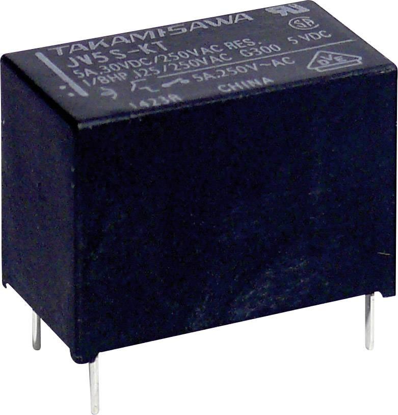 Miniaturní výkonové relé série JV Takamisawa JV-05S-KT, 5 A 250 V/AC/ 30 V/DC 1250 VA