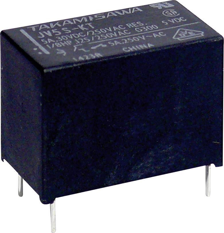 Miniaturní výkonové relé série JV Takamisawa JV-24S-KT, 5 A 250 V/AC/ 30 V/DC 1250 VA