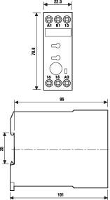 Průmyslové časové relé, široké 22,5 mm, série 87 Finder 87.01.0.240 1 ks