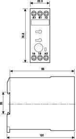 Průmyslové časové relé, široké 22,5 mm, série 87 Finder 87.11.0.240 1 ks