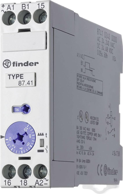 Průmyslové časové relé, široké 22,5 mm, série 87 Finder 87.41.0.240 1 ks
