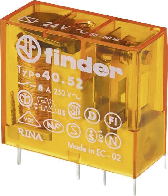 Relé do DPS Finder 40.52.8.024.5000, 24 V/AC, 8 A, 2 prepínacie, 1 ks