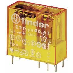Finder 40.61.8.012.0000 relé do DPS 12 V/AC 16 A 1 přepínací kontakt 50 ks Tray