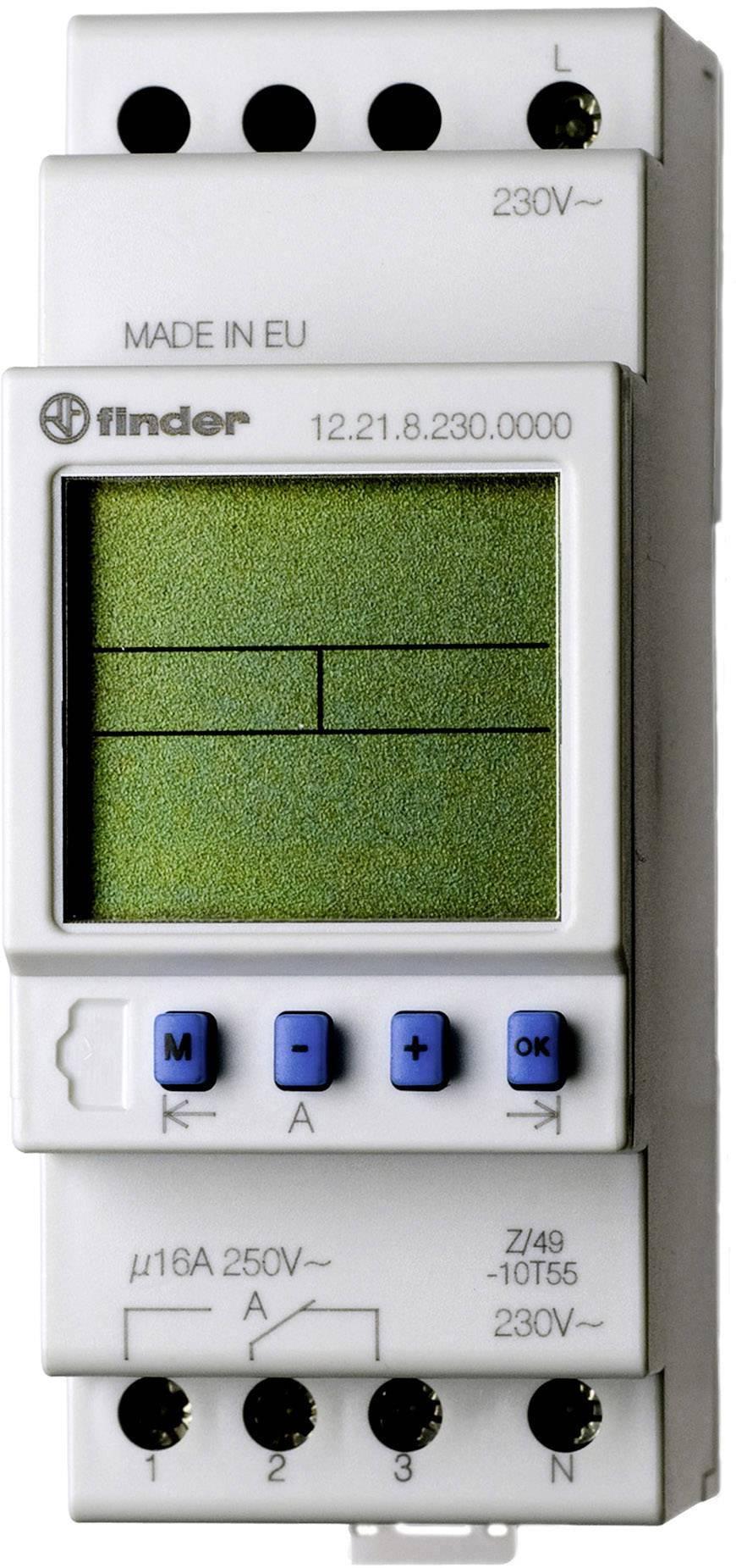 Časové relé - časovač Finder 12.21.8.230.0000, 1 ks
