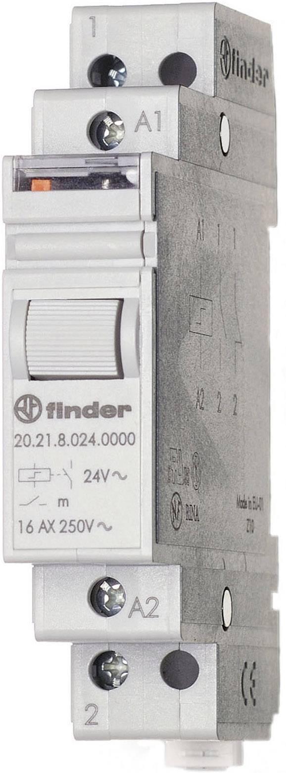 Impulsní spínač Finder 20.21.8.024.4000, 1 spínací kontakt, 24 V/AC, 16 A, 4000 VA