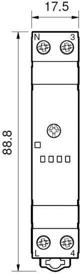 Schodišťové časové relé Finder 14.01.8.230.0000, 230 V/AC, čas.rozsah: 30 s - 20 min, 1 spínací kontakt