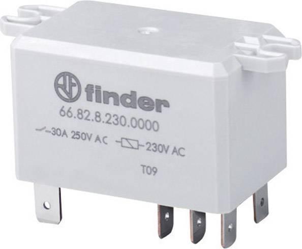 Výkonové relé 30 A, série 66 Finder 66.82.9.024.0300, 66.82.9.024.0300, 30 A, 30 A/250 V/AC , 440 V/AC (Dauerstrom, AC1) , 30 A/250 V/AC