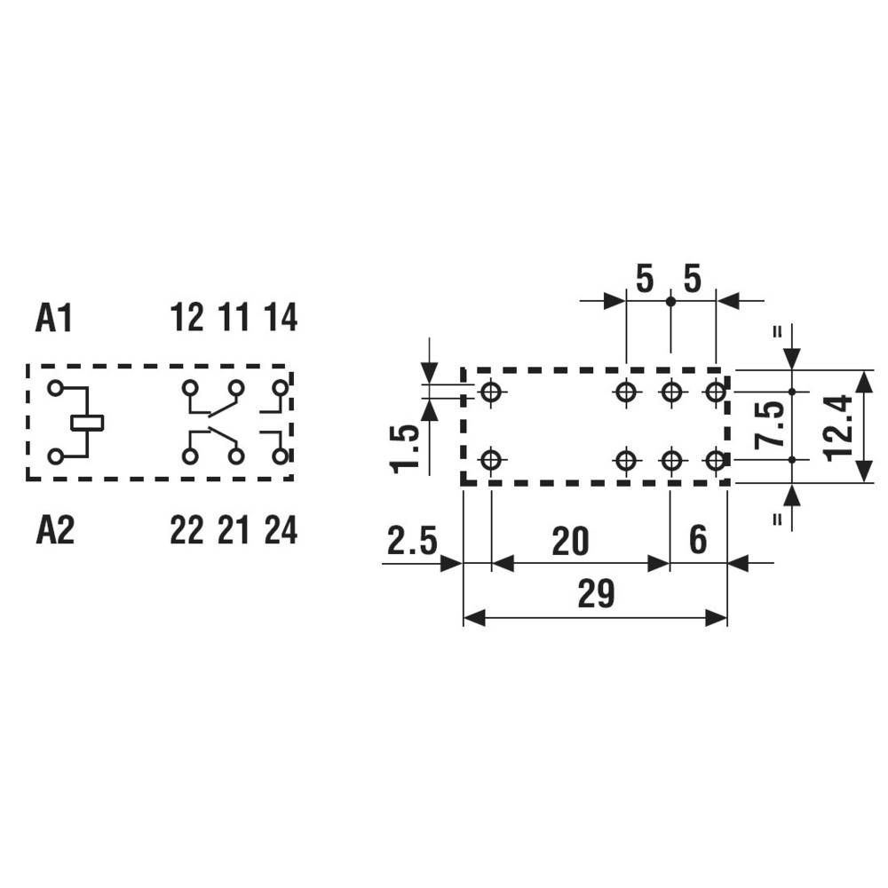 Bezpečnostní relé 8 A, série 50 Finder 50.12.9.024.1000, 0