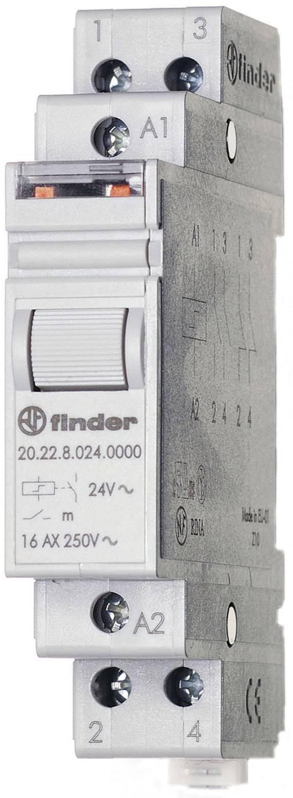 Impulsní spínač Finder 20.22.9.012.4000, 2 spínací kontakty, 12 V/DC, 16 A, 4000 VA