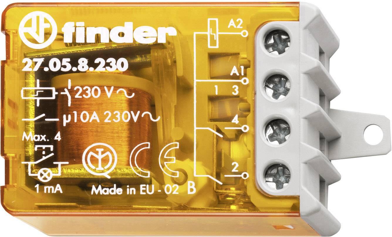 Impulsní spínač Finder 27.05.8.230.0000, 2 spínací kontakty, 230 V/AC, 10 A, 2300 VA