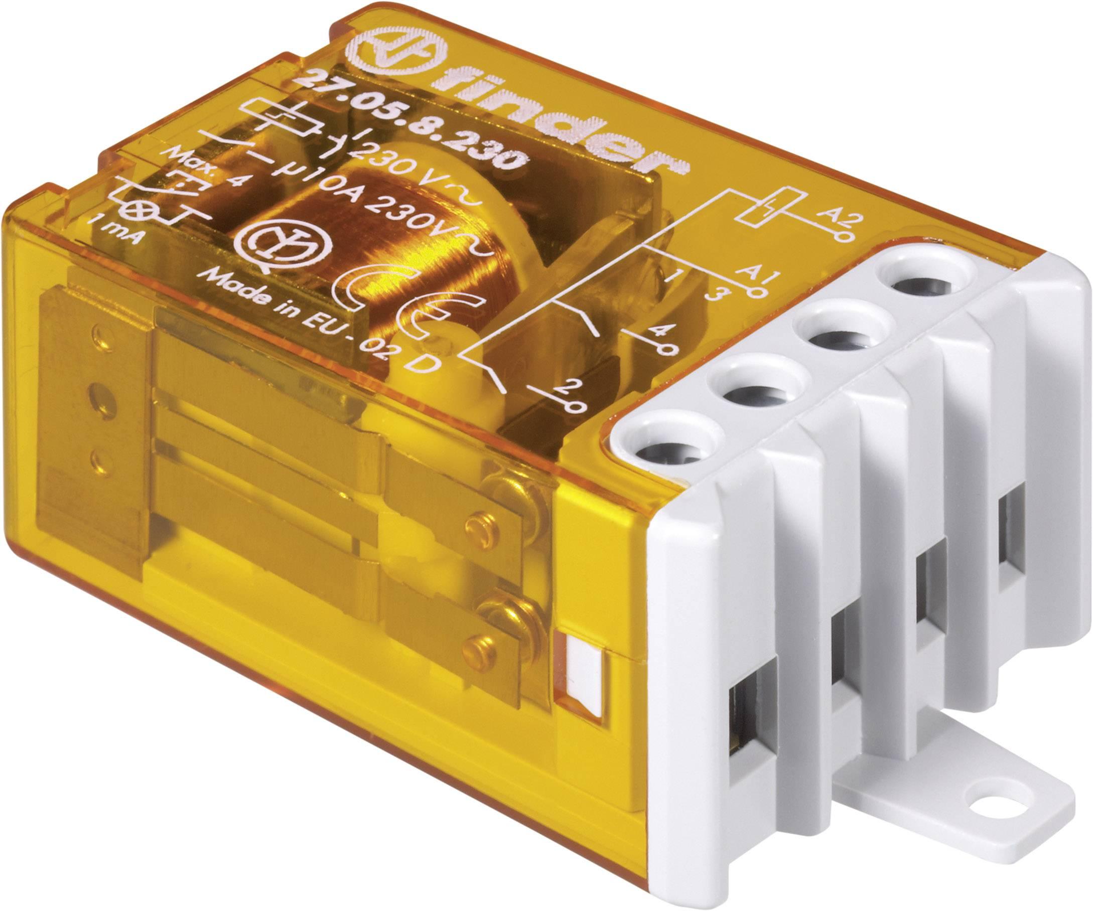 Impulsní spínač Finder 27.01.8.230.0000, 1 spínací kontakt, 230 V/AC, 10 A, 2300 VA