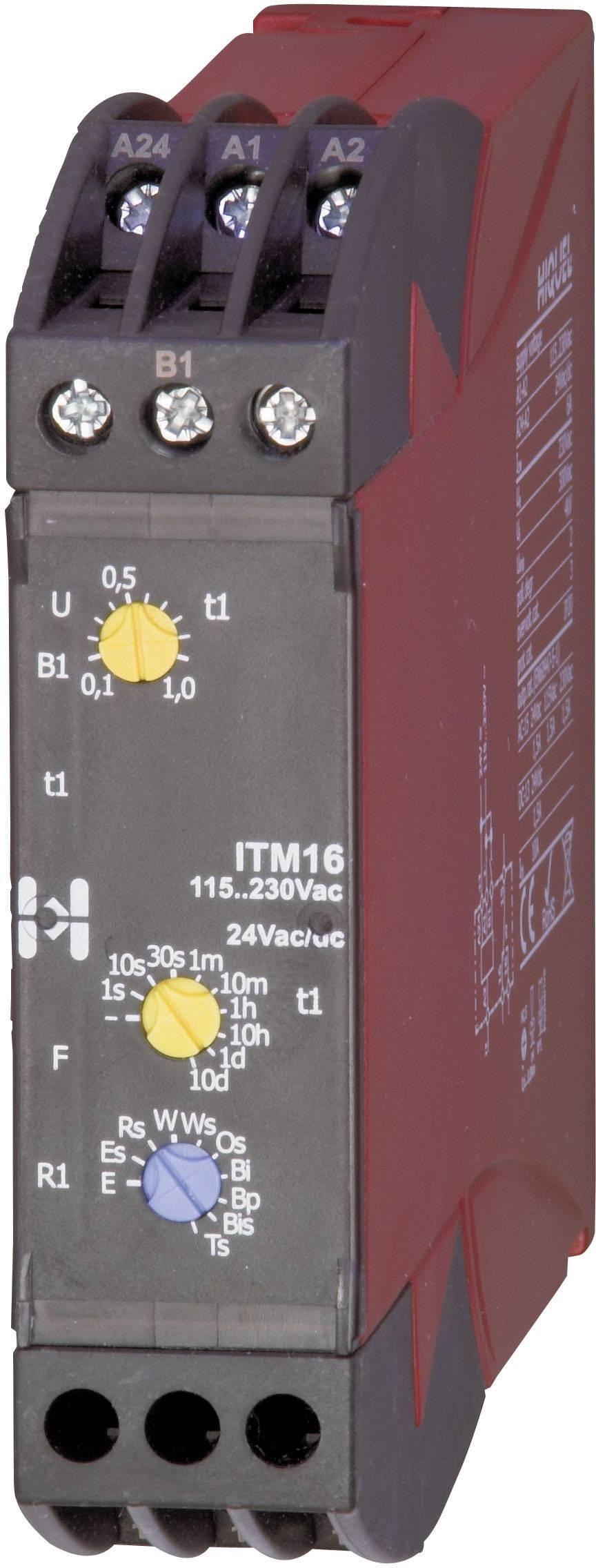Časové relé multifunkčné Hiquel in-case ITM 16, 1 prepínací, 1 ks