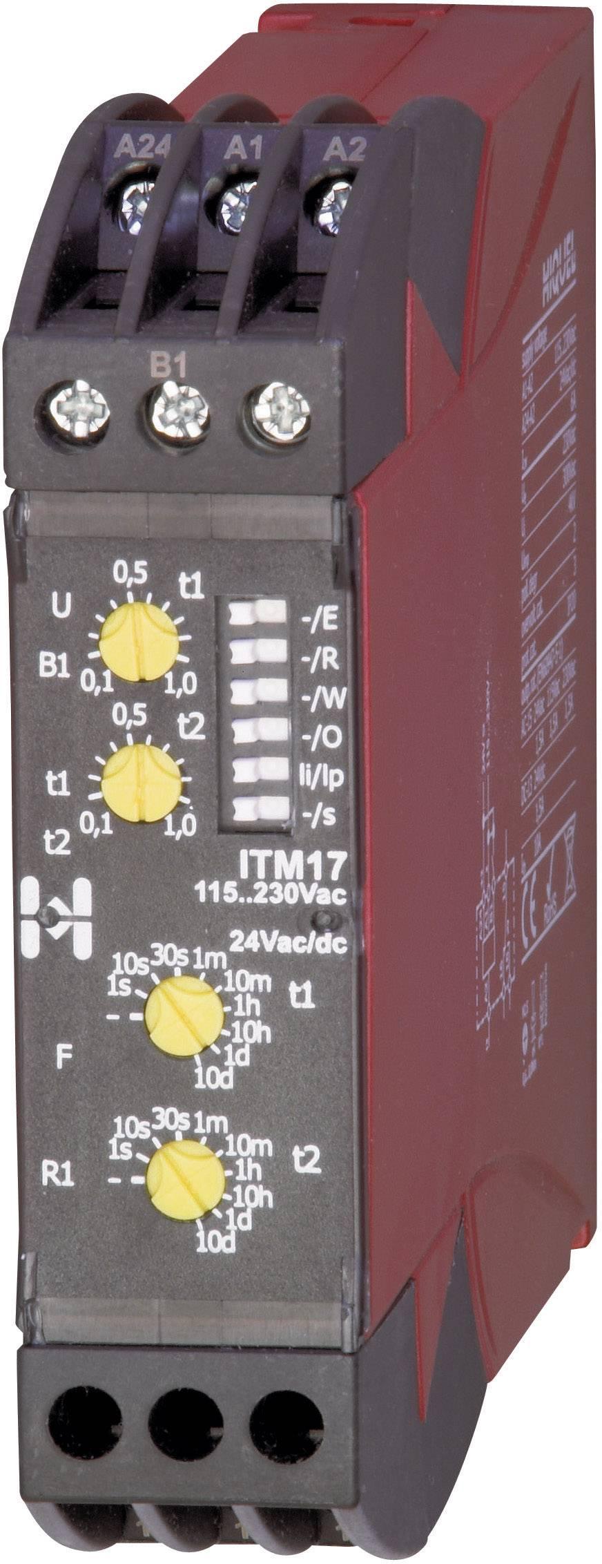 Časové relé multifunkčné Hiquel in-case ITM 17, 1 prepínací, 1 ks