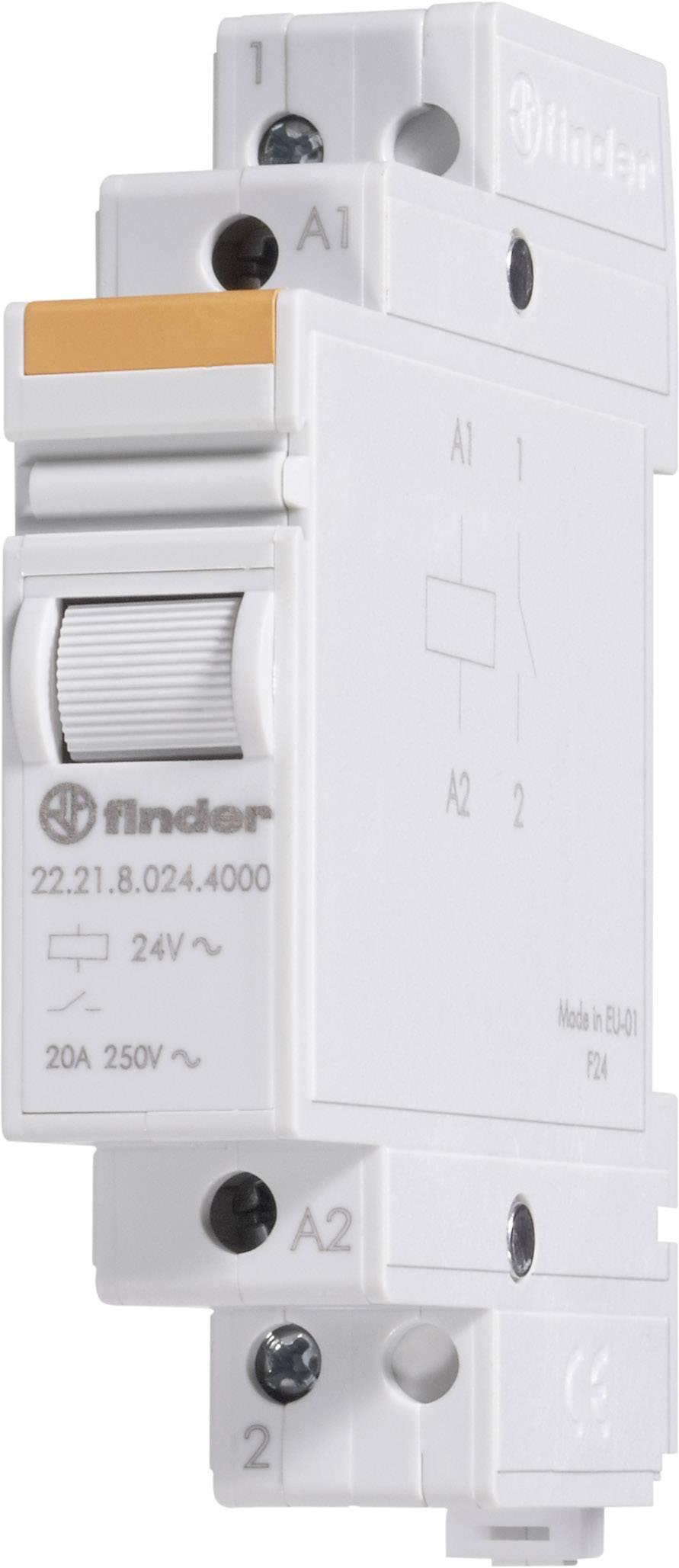 Instalační relé Finder 22.23.9.024.4000, 22.23.9.024.4000, 1 spínací + 1 rozpínací kontakt