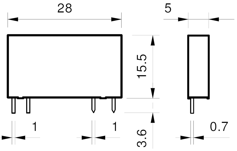 Polovodičové relé Finder 34.81.7.024.9024 34.81.7.024.9024, 2 A, 1 ks