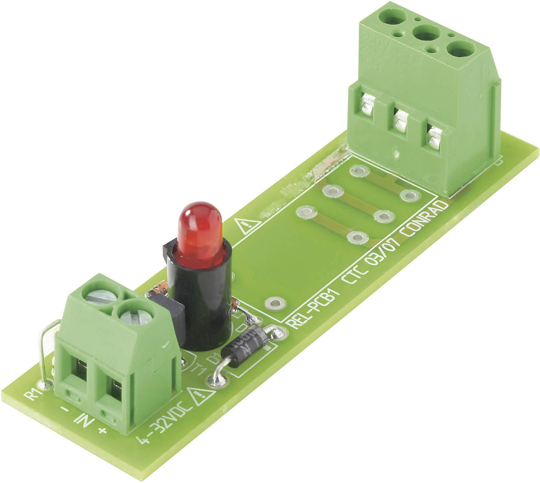 Deska relé REL-PCB1 0, bez relé, 4 - 32 VDC