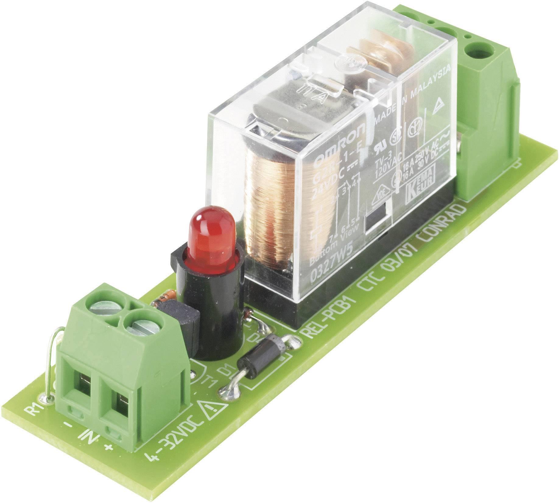 Doska s relé TRU COMPONENTS REL-PCB1 2 503309, 24 V/DC