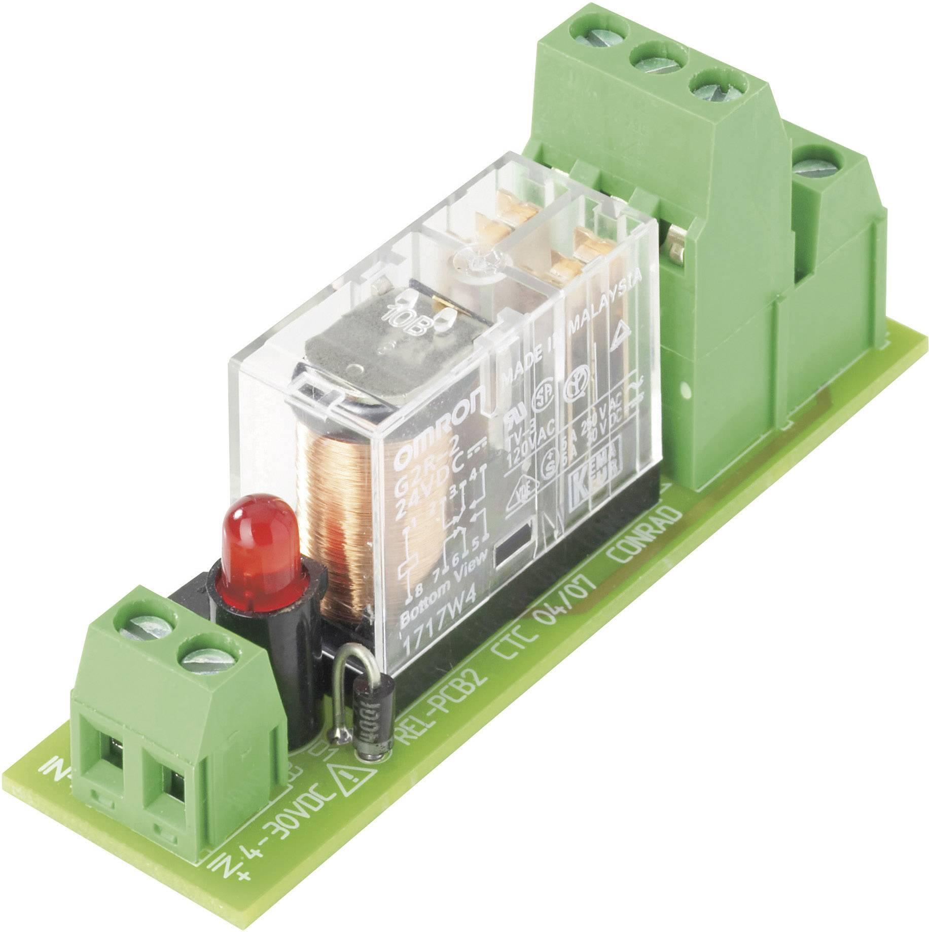Deska relé REL-PCB2 1, s relé, 12 VDC
