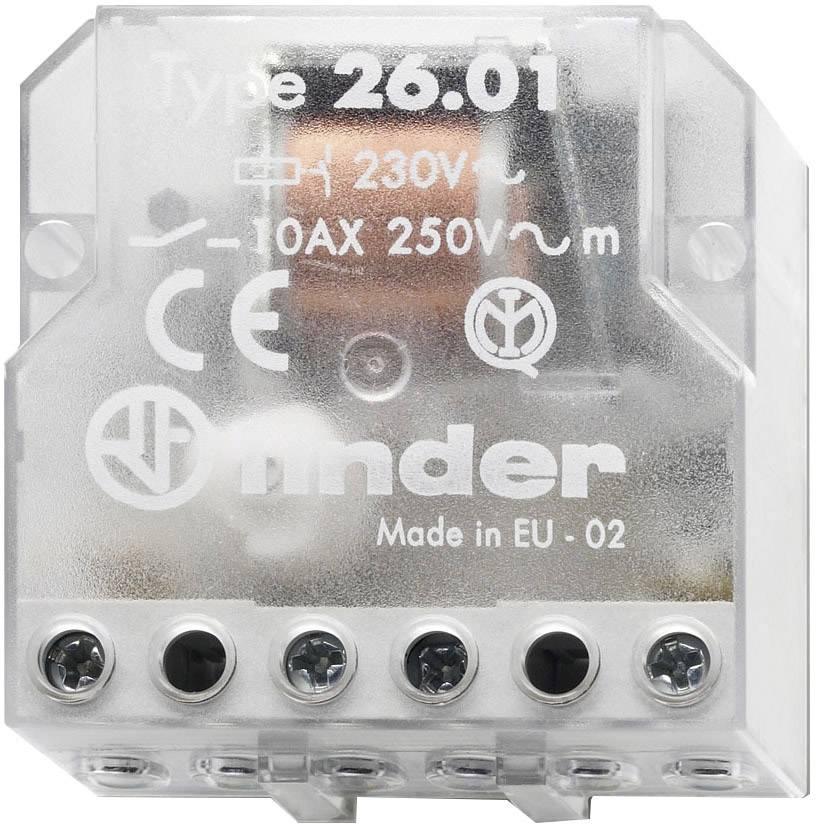 Impulsní spínač Finder 26.01.8.024.0000, 1 spínací kontakt, 24 V/AC, 10 A, 2500 VA