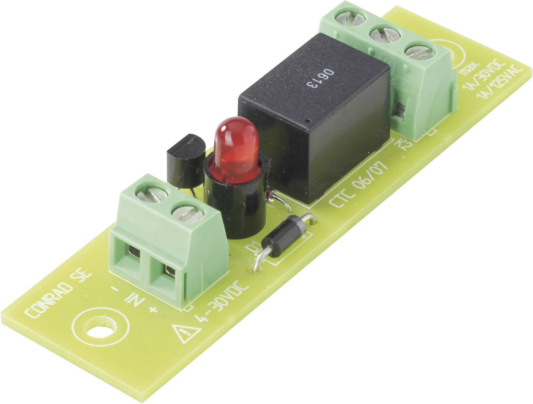 Deska s relé TRU COMPONENTS REL-PCB4 3 503330, 24 V/DC