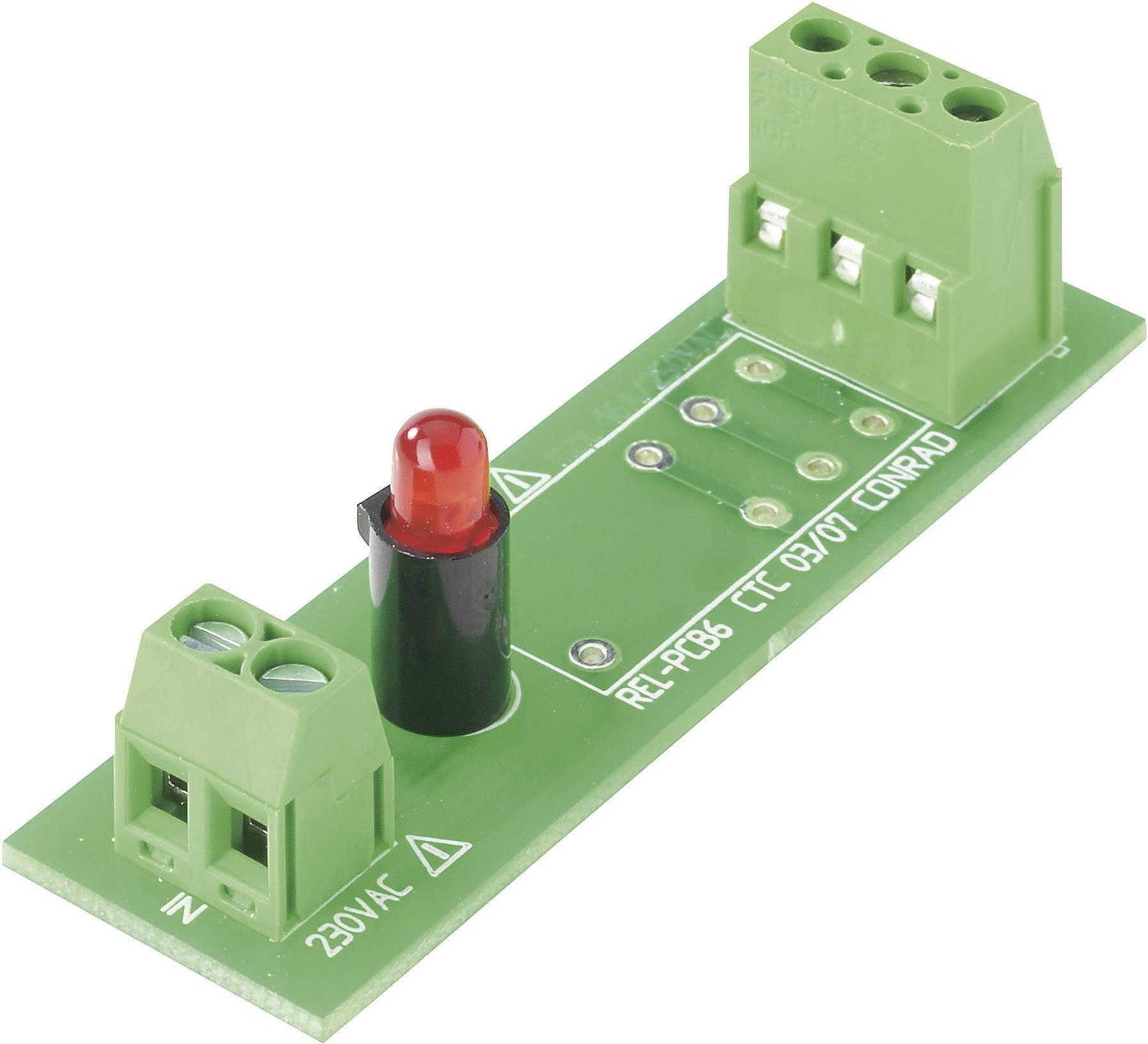 Deska relé REL-PCB6 0, bez relé, 230 VAC