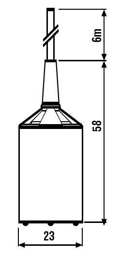 Sonda pro vodivé kapaliny, série 072.01 Finder 072.01.06