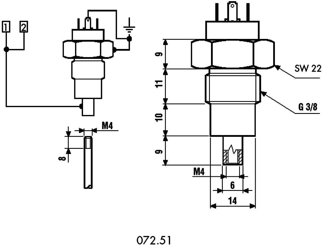 Držák elektrody, Serie 072.51 Finder 072.51, SERIE 72 ELEKTRODENHALTER FÜR 1 SONDE